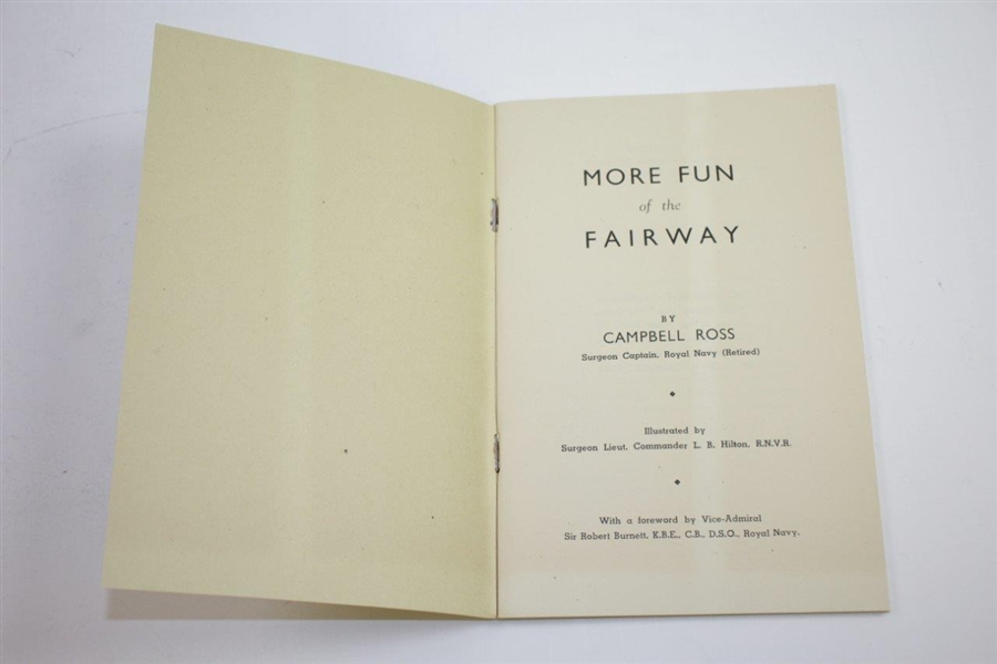 1945 'More Fun of the Fairway' Book by Campbell Ross & Illustrated by Bung Hilton