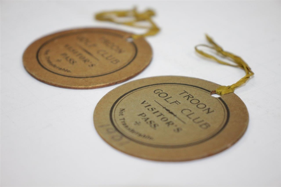 Pair of Purported 1901 Troon Golf Club Visitor's Passes - Herbert Jacques Collection