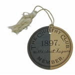 1897 The Country Club Member Badge Issued to 1909-1910 USGA President Herbert Jacques