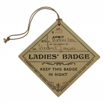 1911 The Country Club of Brookline Ladies Badge #B233 - Herbert Jacques Collection