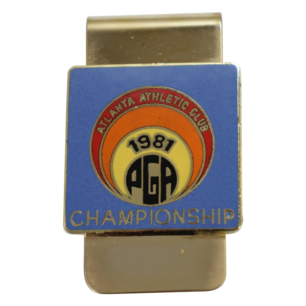 1981 PGA Championship at Atlanta Athletic Club Money Clip - Larry Nelson Winner