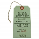 1949 US Open at Medinah CC Round 1 Thursday Ticket - Cary Middlecoff Winner