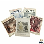 1923 The Golf Monthly Magazines - Five (5)