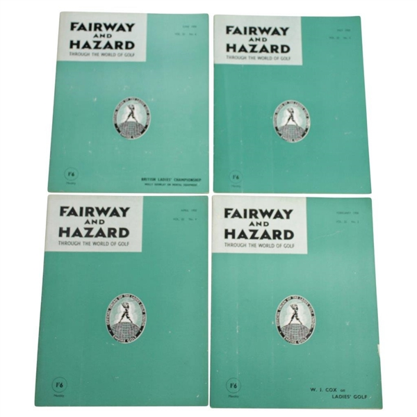 1949 & 1950 Fairway and Hazard: 'Through the World of Golf' Magazines - Thirteen (13)