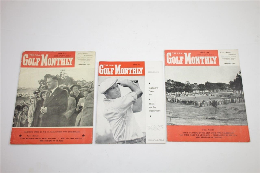 1951 & 1952 The P.G.A. Golf Monthly Golf Magazines - Twenty-One (21)
