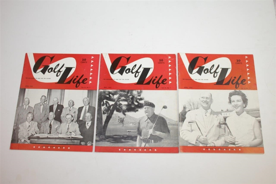 1950, 1951, & 1952 Golf Life Golf Magazines - Eighteen (18)