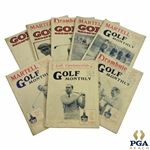 1928 & 1929 Golf Monthly (The Golf Monthly) Golf Magazines - Eight (8)