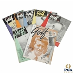 1937 The National Golf Review Golf Magazines - Seven (7)