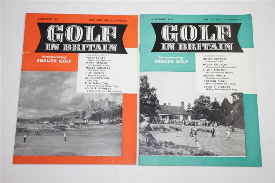 1951 & 1952 'English Golf' Golf Magazines - Thirteen (13)