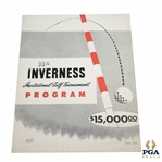 1951 Inverness Inv. Golf Tournament 14th Annual Official Program