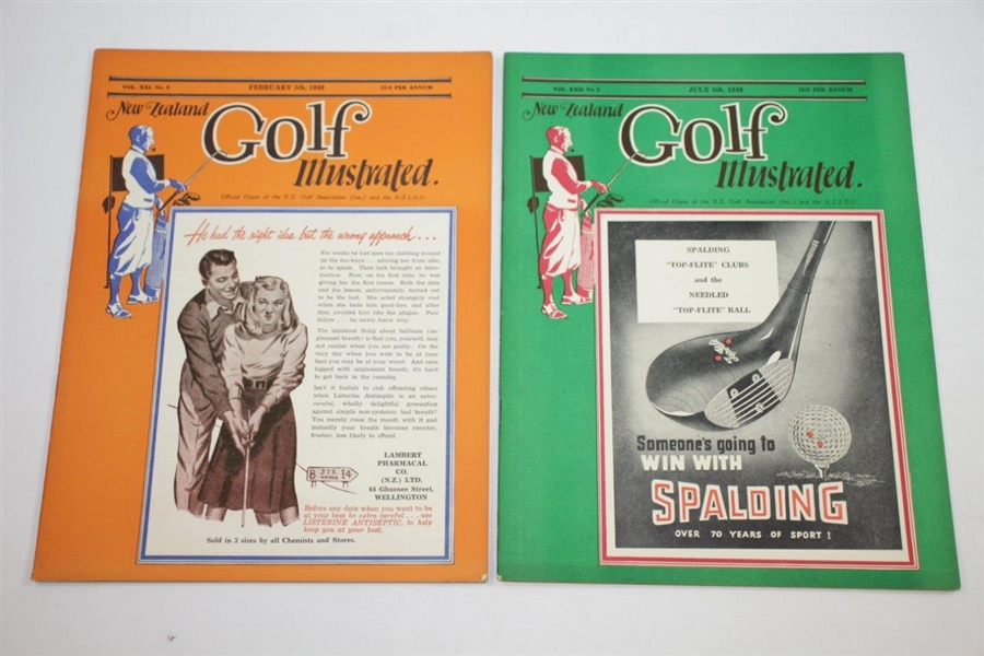 1949 New Zealand Golf Illustrated Golf Magazines - Seven (7)