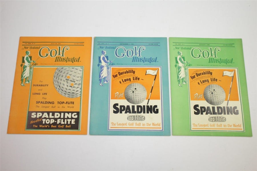 1951 New Zealand Golf Illustrated Golf Magazines - Twelve (12)