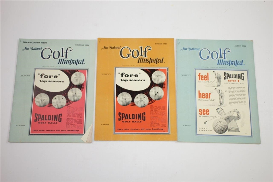 1956 New Zealand Golf Illustrated Golf Magazines - Eleven (11)