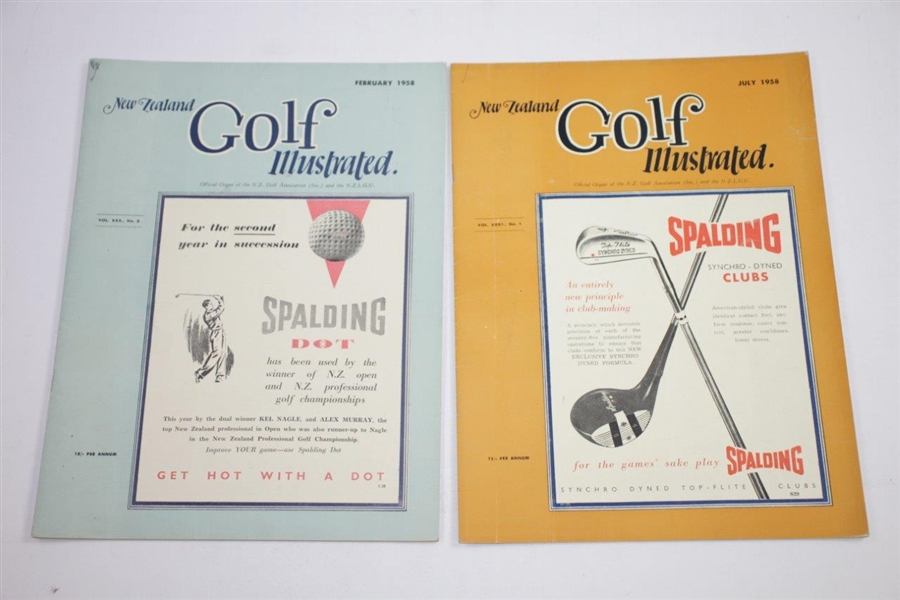 1958 New Zealand Golf Illustrated Golf Magazines - Eleven (11)