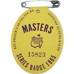 1965 Masters Tournament Series Badge #15823 - Jack Nicklaus Winner