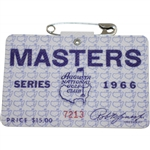 1966 Masters Tournament Series Badge #7213 - Jack Nicklaus Winner
