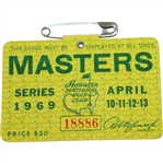 1969 Masters Tournament Series Badge #18886 - George Archer Winner