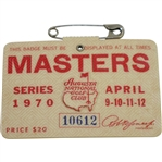 1970 Masters Tournament Series Badge #10612 - Billy Casper Winner