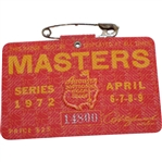1972 Masters Tournament Series Badge #14800 - Jack Nicklaus Winner