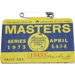1973 Masters Tournament Series Badge #19433 - Tommy Aaron Winner