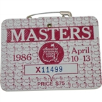 1986 Masters Tournament Series Badge #X11499 - Jack Nicklaus Winner