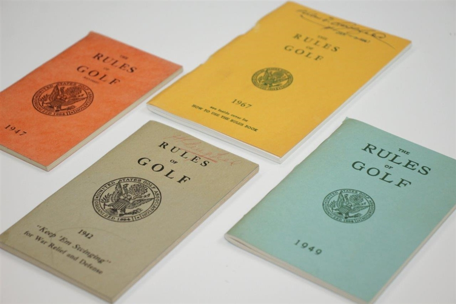 1942, 1947, 1949, & 1967 USGA The Rules of Golf Booklets