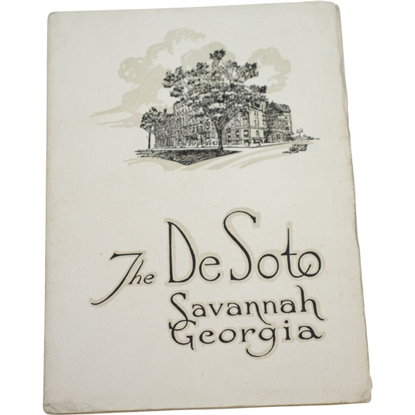 Vintage 'The DeSoto' Savannah Georgia Advertising Brochure with Golf Club House