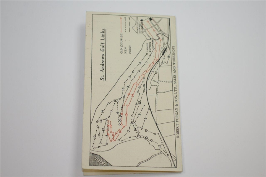Vintage St. Andrews with Forgan Advertising Scorecard with Stymie Measure
