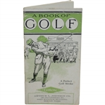 1911 A Book of Golf Booklet with Summary of 1910 Champions - Compliments of Gillette