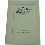 Sandy Burr Country Club Wayland, Mass. Constitution and By-Laws Booklet - Incorporated 1922