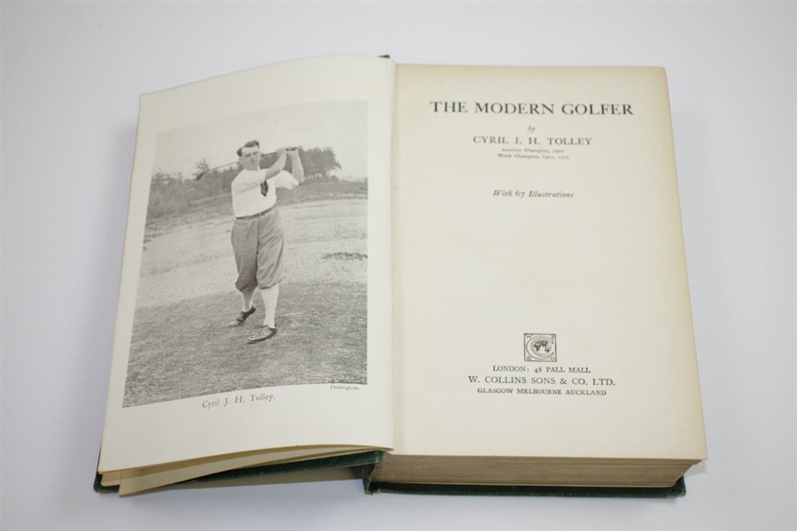 1924 'The Modern Golfer' Book by Cyril J.H. Tolley Sourced From Bert Yancey
