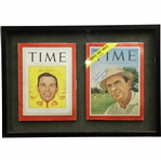 Ben Hogan (1949) & Sam Snead (1954) Signed TIME Magazines - Framed JSA ALOA