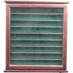 Cherry Wood Golf Ball Display Cabinet - Great Condition - Missing Key