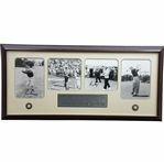 Grand Slam Champions Sarazen, Hogan, Nicklaus, & Player Signed Photos Display JSA ALOA