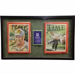 Arnold Palmer & Jack Nicklaus Signed TIME Magazines Plus Nicklaus Signed Scorecard JSA ALOA