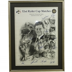 1997 Ryder Cup Matches at Valderrama US Team & Captain Signed Poster JSA ALOA