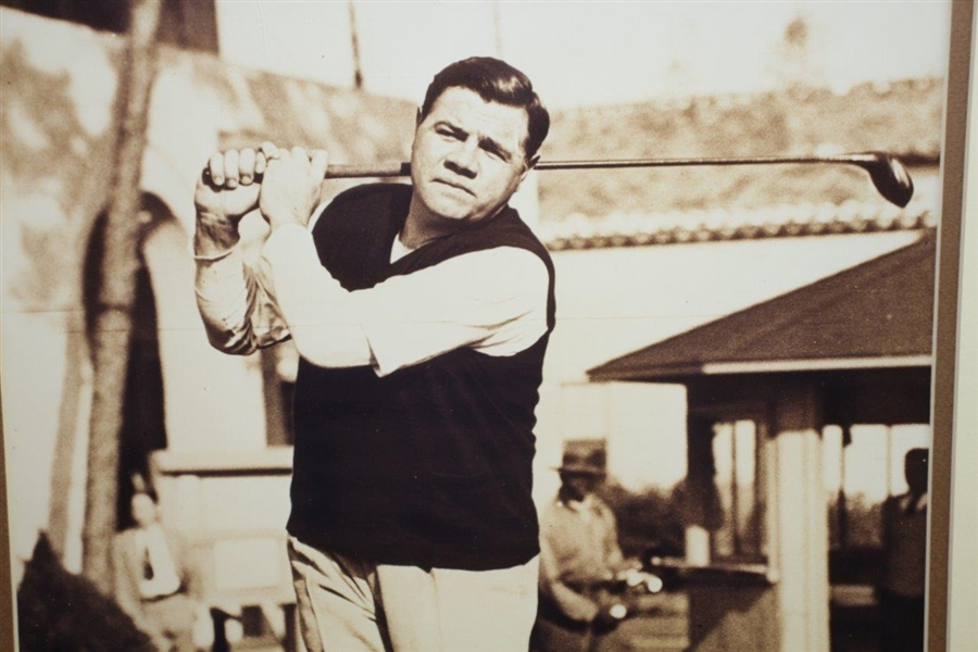 Ltd Ed 1937 Babe Ruth Golfing 11x14 Sepia Print from Negative #228/5000 - Framed