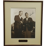 Jack Nicklaus & Arnold Palmer Signed Sepia At The Masters Framed Photo JSA ALOA