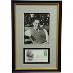 Robert T. Jones, Jr.(Bobby) Signed 8x10 Photo with Postal Cachet - Framed JSA ALOA