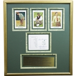 Sam Snead, Byron Nelson, & Gene Sarazen Signed Augusta National Scorecard with Display JSA ALOA
