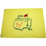 Chad Campbell Signed 2006 Masters Embroidered Flag - 2nd Rd Leader JSA ALOA