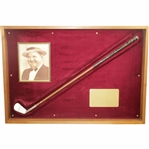 George Nicoll 1931 Custom Oliver Hardy Nicoll 5 Iron Given to Bing Crosby - Framed