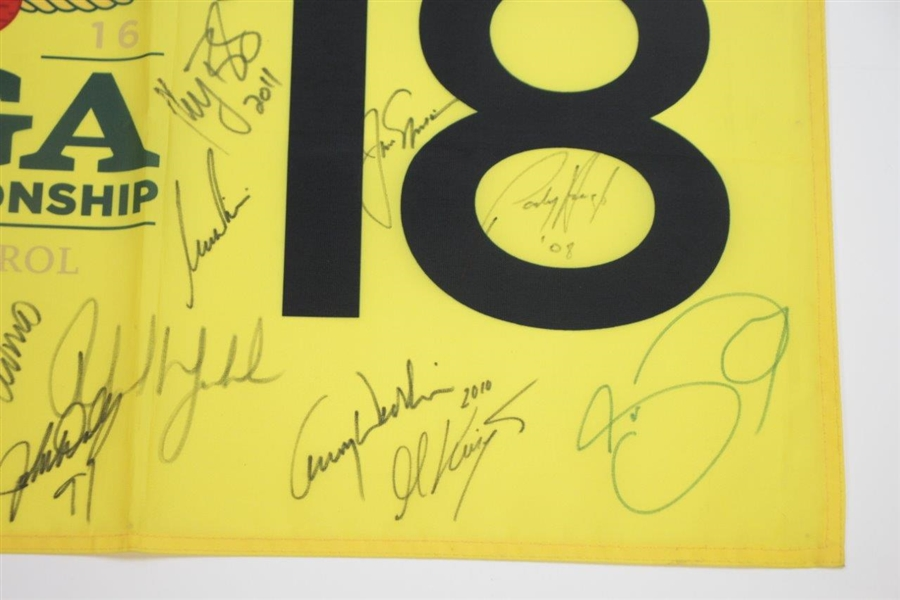 2016 PGA at Baltusrol Flag Champs Signed Flag Nicklaus, Trevino, Walker, & others JSA ALOA