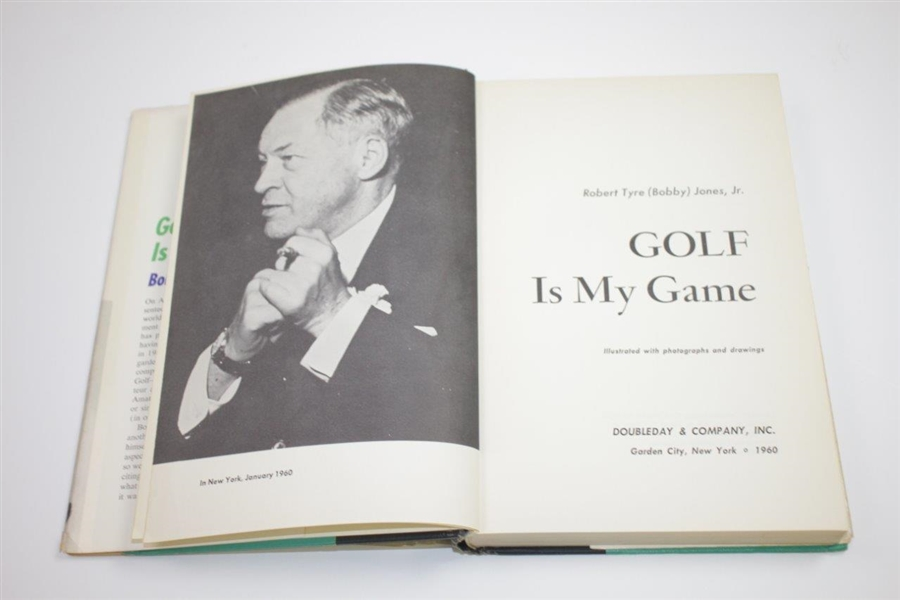 Robert Bobby T. Jones Jr. Signed 1960 'Golf Is My Game' Book Pers. to Charles Hucke JSA ALOA