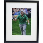 Jordan Spieth 1st PGA Win Bunker Hole Out 11x14 Reaction Presentation Photo - Framed