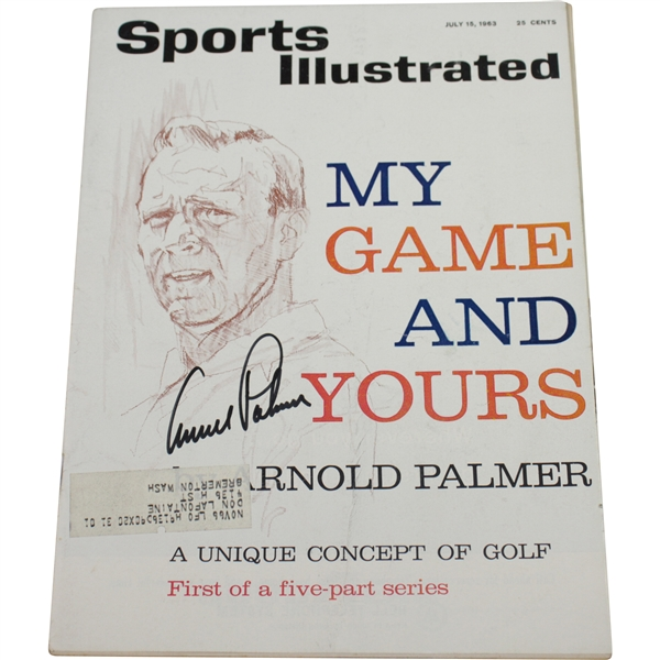 Arnold Palmer Signed 1963 Sports Illustrated Magazine JSA #P36663
