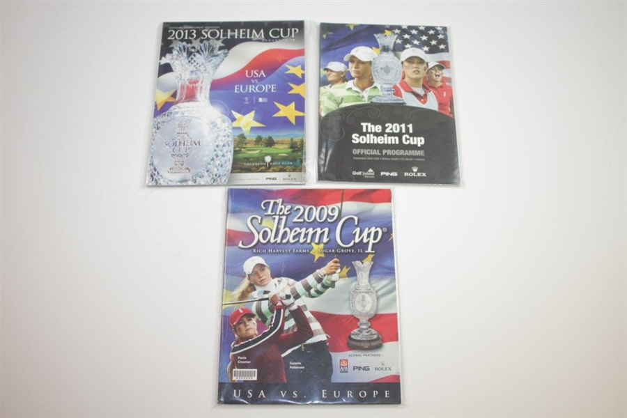 Eleven (11) Different Solheim Cup Programs - 1990-2013