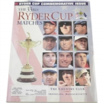 1999 Ryder Cup at The Country Club Brookline Commemorative Issue Program