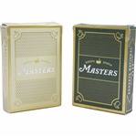 Augusta National Golf Club Masters Green & Gold Playing Card Decks in Original Boxes