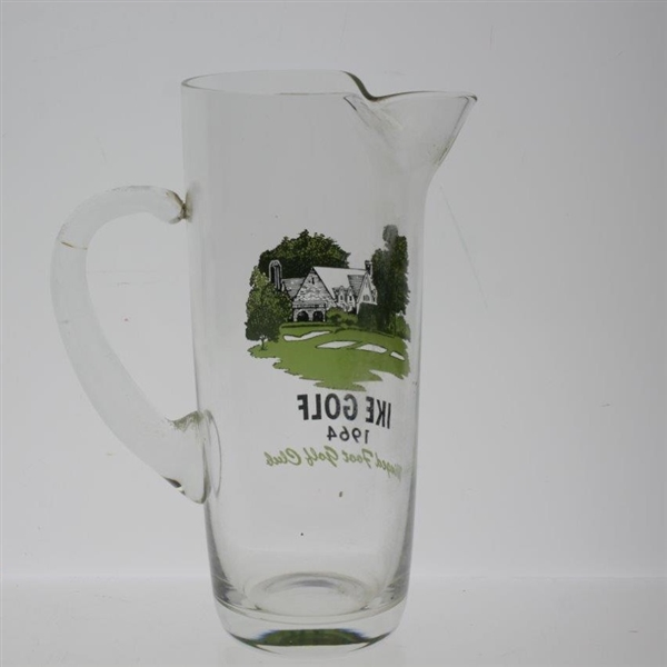1964 'Ike Golf' Winged Foot Golf Club Clubhouse Glass Pitcher